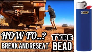 Download How to Break, Clean and Reseat a Tyre Bead in the Bush with Basic Tools 🔥 Video