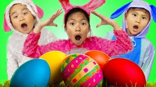 Download Wendy Pretend Play Huge Easter Surprise Eggs Hunt w/ Liam & Lyndon Video