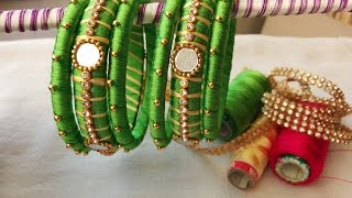 Download making of two color bangles with mirrors and gold drop chain | DIY Video