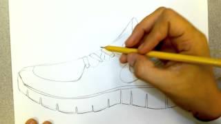 Download nike runfree shoe drawing Video