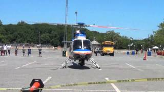 Download Police helicopter taking off for an emergency Video