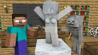 Download Monster School: Ice Sculpting - Minecraft Animation Video