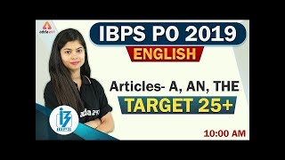 Download IBPS PO 2019 | English | Articles | A | AN | THE Video