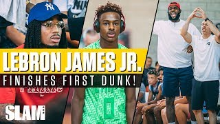 Download Bronny James finishes FIRST DUNK in front of Quavo, DWade and CP3! Chips win Las Vegas Classic 🏆 Video