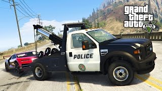 Download GTA 5 Mods - PLAY AS A COP MOD!! GTA 5 Police Tow Truck Towing Super Cars LSPDFR Mod! (GTA 5 Mods) Video