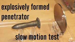 Download Explosively Formed Penetrator - slow motion testing Video