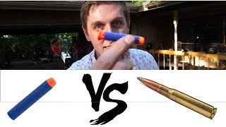Download What happens when a NERF dart breaks the SPEED OF SOUND? Video