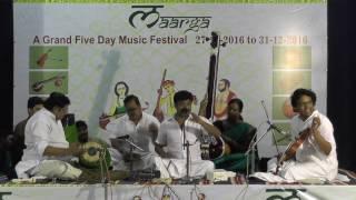 Download Carnatic Music Concert | Kunnakudi Balamuralikrishna | Maarga Music Festival | December Season 2016 Video