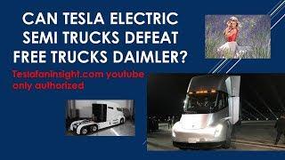 Download Can Tesla Semi Defeat Free Nikola/Daimler trucks? 45,000 Model 3 #306 Video