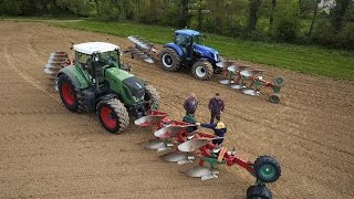 Download 16 plowhshare ! FENDT 824 and NEW HOLLAND T7.270 - PLOWING Video