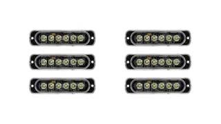 Download Low Profile Vehicle LED Mini Strobe Light Head - Single or Dual Color - 18 Watt Video