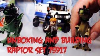 Download Unboxing and Building Jurassic World Lego 75917 Raptor Set Video
