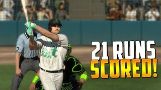 Download ABSOLUTELY INSANE 21 RUN GAME! MLB The Show 17 | Diamond Dynasty Ranked Seasons Video