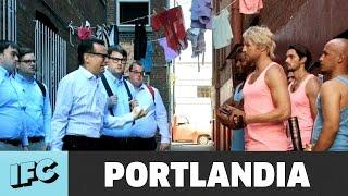 Download Portlandia | Nerds vs. Hunks Rumble (ft. Ryan Hansen) | IFC Video