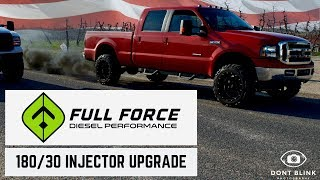 Download 7.3 Powerstroke: Before and After FULL FORCE INJECTOR UPGRADE Video
