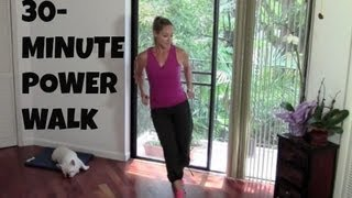Download Indoor Walking Exercise - Full Length 30-Minute Power Walk (fat burning, walking workout) Video