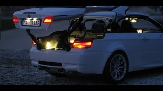 Download 1/18 Kyosho diecast BMW M3 E93 - full light package tuning - Toy car BMW big boy Video