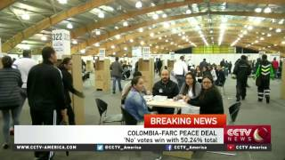 Download Colombians appear to reject FARC peace deal by razor-thin margin Video