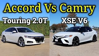 Download HONDA or TOYOTA?: 2020 Toyota Camry XSE V6 vs 2020 Honda Accord Touring 2.0T   Fully Loaded! Video