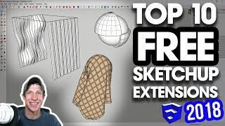 Download The TOP 10 FREE SketchUp Plugins of 2018! Video