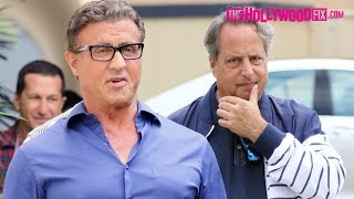Download Sylvester Stallone Runs Into Jon Lovitz While Greeting Fans After Lunch In Beverly Hills 5.7.16 Video