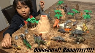Download Prehistoric Dinosaur Toys: 20 Dinosaurs in a Plastic Container Unboxing & Playtime Fun! Video