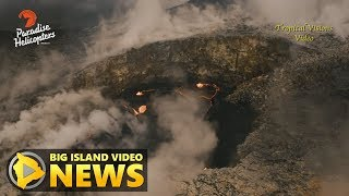 Download Volcano Wall Collapse Recorded From Helicopter (Feb. 20, 2018) Video