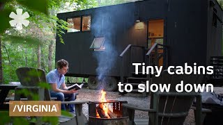 Download Tiny cabins in VA's woods to slow down & resync inner clock Video