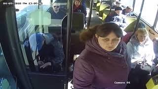 Download Липовая льготница бросается на водителя автобуса. Video