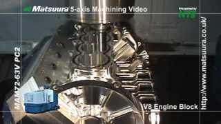 Download Matsuura V8 Block Machining from Solid Billet 2013 edit NBM Video
