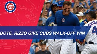 Download Anthony Rizzo follows David Bote's game-tying home run with walk-off shot Video
