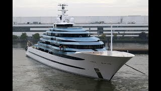 Download Oceanco's 110.1m/ 360'11″ superyacht Jubilee having its first sailing and sea trials Video