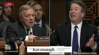 Download Durbin to Kavanaugh: Ask White House for an FBI probe to clear your name Video