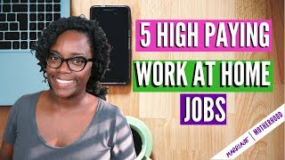 Download 5 High Paying Work from Home Jobs (NO DEGREE REQUIRED) | Work from home 2018 Video