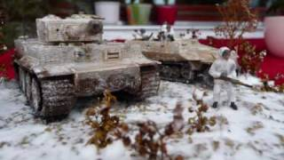 Download Winter Tempest Diorama, Tiger tank & Sd.Kfz. 251 1/72 scale Video