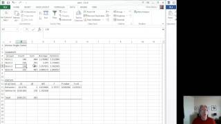 Download How to run Analysis of Variance - ANOVA - using Excel Video