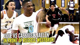Download Cole Anthony vs Cassius & Jaelen House INTENSE BATTLE w/ Russell Westbrook Coaching!!! Video