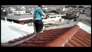 Download Spray Πολυουρεθάνης σε κεραμίδια Video