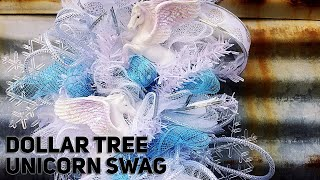 Download $12 DIY Dollar Tree Frozen Unicorn Christmas Swag - Winter Decor - All Dollar Tree - Christmas 2019 Video