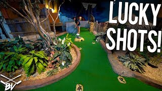 Download LOTS OF LUCKY SHOTS AND HOLES IN ONE AT THIS MINI GOLF COURSE! Video