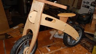 Download Balance bike from plywood. How to make. DIY. Video