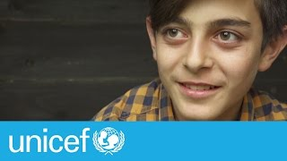 Download Syrian refugee Mustafa, 14, one year on | UNICEF Video