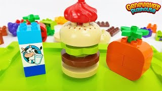 Download Toy Food Best Preschool Learning Video for Kids Lego Duplo Bricks Hamburger Shop Pretend Play Video