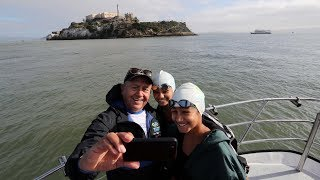 Download Teen completes Alcatraz swim for 50th time Video