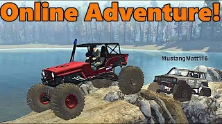 Download Spin Tires Multiplayer | TC and MustangMatt | WE FOUND A LAND BRIDGE!! Matt Pushed me in the water!! Video