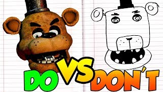 Download DOs & DON'Ts Drawing Five Nights At Freddy's In 1 Minute CHALLENGE! Video