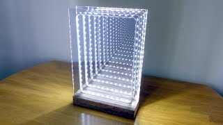 Download How to Make a Modern LED Infinity Illusion Mirror Video