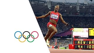 Download USA Break Women's 4 x 100m Relay World Record - London 2012 Olympics Video