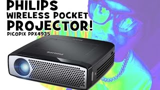 Download PHILIPS PICOPIX PPX 4935 Review / Wireless Pocket Rechargeable Projector / English Video