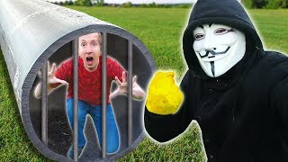 Download PROJECT ZORGO TOOK My CAMERA & TRAPPED ME in HIDDEN TUNNEL (Hacker Trivia Escape Room Challenge) Video